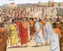 Oud-Griekse direct-democratische stadsraad, 4e - 7e eeuw VC. Burgers gingen debatteren en stemmen in 'de ecclesia' (église = 'kerk')