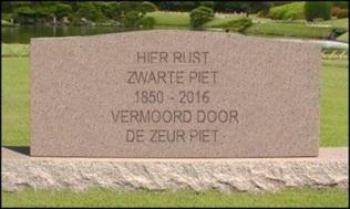 Zwarte-Piet-grafsteen